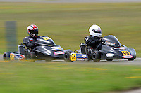 Daniel Sayles, 75, and Teddy Bassick, 96, race in the Rotax Heavy class during the 2012 Superkart National Champs and Grand Prix at Manfeild in Feilding, New Zealand on Saturday, 7 January 2011. Credit: Hagen Hopkins.