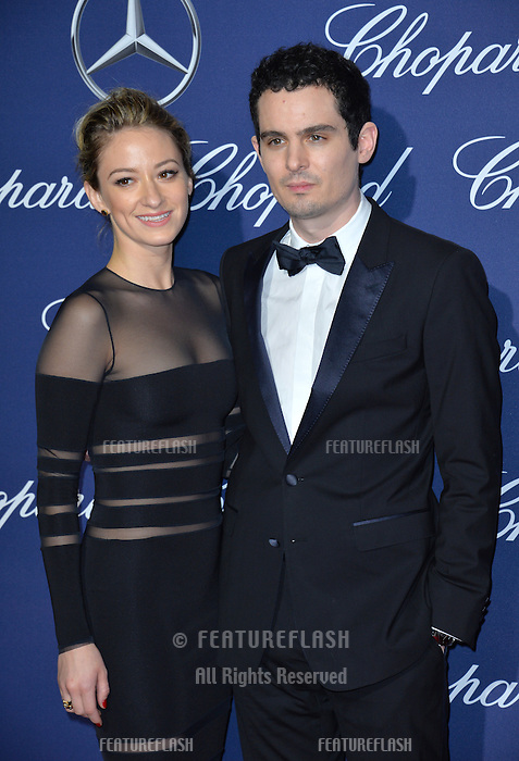 Director Damien Chazelle &amp; actress Olivia Hamilton at the 2017 Palm Springs Film Festival Awards Gala. January 2, 2017<br /> Picture: Paul Smith/Featureflash/SilverHub 0208 004 5359/ 07711 972644 Editors@silverhubmedia.com