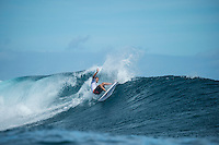 Namotu Island Resort, Nadi, Fiji (Saturday, June 5 2016): Tevita Gukilau (FJI) - The  2016 Fiji  Pro commenced at Cloudbreak this morning in a bumpy 4'-5' swell. Round one was completed as new longer period swell from the West filled in during the day. Round Two was called off as the  wind swung to the NW making the surface the waves very choppy.  Photo: joliphotos.com