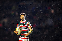 Owen Williams of Leicester Tigers looks on during a break in play. Aviva Premiership match, between Leicester Tigers and Exeter Chiefs on March 3, 2017 at Welford Road in Leicester, England. Photo by: Patrick Khachfe / JMP
