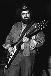 """Lonnie Mack, April 18, 1977, Boarding House, San Francisco. American blues singer and guitarist. In the early 1960s, he recorded several full-length electric guitar instrumentals which combined blues stylism with fast-picking techniques and a rock 'n' roll beat, the best-known of which are """"Memphis"""", """"Wham!"""", """"Chicken Pickin'"""" and """"Suzie-Q"""". Mack's fiery instrumentals from this period set a new standard of virtuosity for a generation of rock guitarists and formed the leading edge of the """"blues-rock"""" guitar genre."""