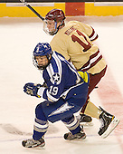 Stephen Carew (Air Force - 19), Pat Mullane (BC - 11) - The Boston College Eagles defeated the Air Force Academy Falcons 2-0 in their NCAA Northeast Regional semi-final matchup on Saturday, March 24, 2012, at the DCU Center in Worcester, Massachusetts.