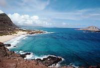 Overhead view of a Hawaiian seascape. Hawaii.
