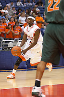 SAN ANTONIO, TX - NOVEMBER 12, 2006: The University of Texas Pan American Broncos vs. The University of Texas at San Antonio Roadrunners Men's Basketball at the Alamodome. (Photo by Jeff Huehn)