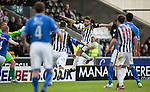 St Mirren v St Johnstone...19.10.13      SPFL<br /> Steven Thompson (partly hidden) scores the winning goal<br /> Picture by Graeme Hart.<br /> Copyright Perthshire Picture Agency<br /> Tel: 01738 623350  Mobile: 07990 594431
