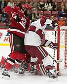 Matt Purmal (SLU - 15), Alexander Kerfoot (Harvard - 14) - The Harvard University Crimson defeated the St. Lawrence University Saints 6-3 (EN) to clinch the ECAC playoffs first seed and a share in the regular season championship on senior night, Saturday, February 25, 2017, at Bright-Landry Hockey Center in Boston, Massachusetts.