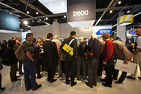 Photokina in Cologne ist the World's biggest bi-annual photo fair..Nikon stand. Nikon D600.