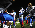Louisiana Tech players celebrate a win over Ole Miss in Oxford, Miss. on Saturday, November 12, 2011. Louisiana Tech won 27-7.