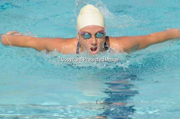 Female Competitive swimmer