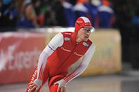 SCHAATSEN: AMSTERDAM: Olympisch Stadion, 28-02-2014, KPN NK Sprint/Allround, Coolste Baan van Nederland, Renz Rotteveel, ©foto Martin de Jong