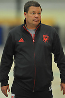 D.C. United assistant head coach Chad Ashton  during the pre-season fitness training session at George Manson University before departing for Bradenton Florida to get ready for the 2013 season, Friday January 18, 2013.