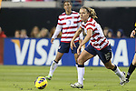 09 February 2012: Lauren Cheney (USA) (12). The United States Women's National Team played the Scotland Women's National Team at EverBank Field in Jacksonville, Florida in a women's international friendly soccer match. The U.S. won the game 4-1.