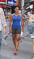 NEW YORK, NY-August 11: Dominiaque Dawes Olymic Gold winner at Good Morning America go for GMA Games Gold in New York. NY August 11, 2016. Credit:RW/MediaPunch