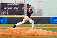 17 August 2007: Yann Dal Zotto practices during the Good Luck Beijing International baseball tournament (olympic test event) at the Wukesong Baseball Field in Beijing, China.