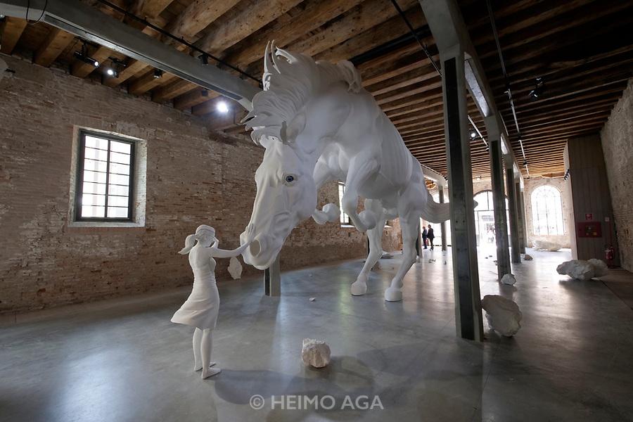 57th Art Biennale in Venice - Viva Arte Viva.<br /> Arsenale.<br /> Argentina. Claudia Fontes: The horse problem