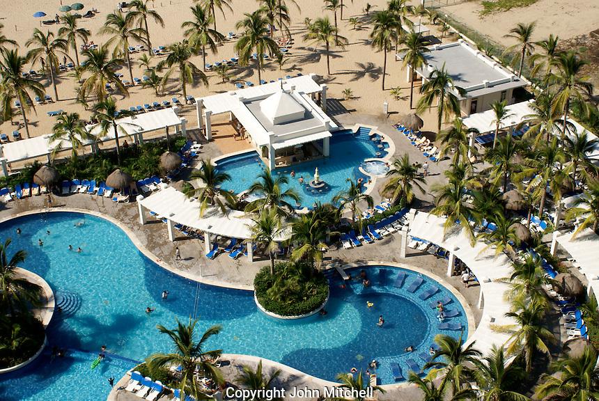 Swimming pools at the Hotel RIU, Nuevo Mazatlan, Sinaloa, Mexico