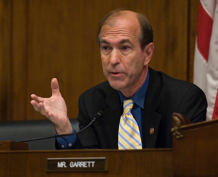 WASHINGTON, DC - July 22: House Financial Services ranking member Scott Garrett, R-N.J., during the hearing with Securities and Exchange Commission Chairwoman Mary Schapiro and Commodity Futures Trading Commission Chairman Gary Gensler on financial regulatory overhaul. (Photo by Scott J. Ferrell/Congressional Quarterly)