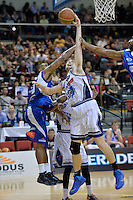 Dion Prewster in action during the NBL - Wellington Saints v Nelson Giants at TSB Bank Arena, Queens Wharf, Wellington, New Zealand on Friday  2 May 2014. <br /> Photo by Masanori Udagawa. <br /> www.photowellington.photoshelter.com.