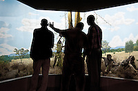 Maasai safari guides on a visit to the Nairobi National Museum. The guides were visiting for the first time as part of a silver certification course.