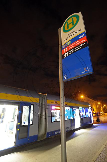 WGT 2013 - Haltestellenschild am Agra Gelände / Agra Messepark der Straßenbahn LVB.  Foto: Norman Rembarz