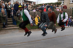 Traditional Easter Good Friday skipping, The Rose Cottage Inn, Alciston, Sussex. England. 2006