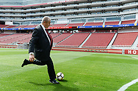 Santa Clara, CA - Tuesday, March 07, 2017: Eduardo Lara during the unveiling of the CONCACAF 2017 Gold Cup Groups & Schedule at Levi's Stadium.