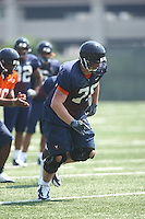 Virginia tackle Hunter Stewart during open spring practice for the Virginia Cavaliers football team August 7, 2009 at the University of Virginia in Charlottesville, VA. Photo/Andrew Shurtleff
