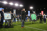 San Jose, CA - Saturday April 08, 2017: Joe Cannon  during a Major League Soccer (MLS) match between the San Jose Earthquakes and the Seattle Sounders FC at Avaya Stadium.