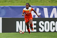Piscataway, NJ - Saturday May 20, 2017: Nichelle Prince during a regular season National Women's Soccer League (NWSL) match between Sky Blue FC and the Houston Dash at Yurcak Field.  Sky Blue defeated Houston, 2-1.
