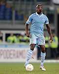 Calcio, Europa League: Lazio vs Panathinaikos. Roma, stadio Olimpico, 8 novembre 2012..Lazio defender Michael Ciani, of France,  in action during the Europa League Group J football match between Lazio and Panathinaikos, at Rome's Olympic stadium, 8 november 2012..UPDATE IMAGES PRESS/Riccardo De Luca