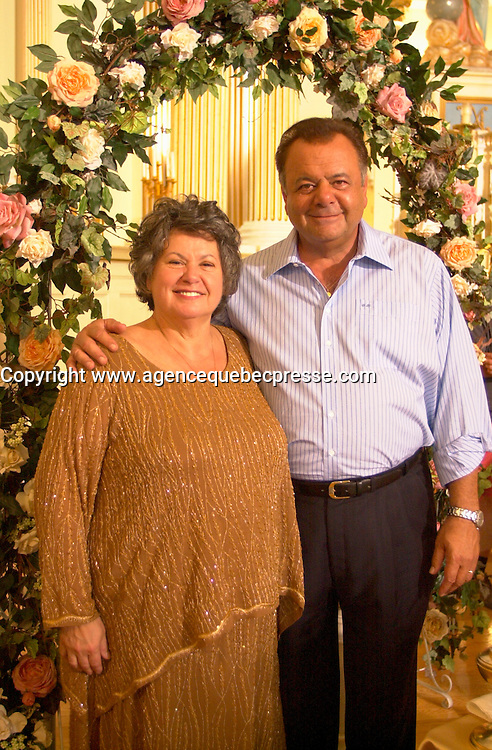 Ginette Reno and Paul Sorvino<br /> MAMBO ITALANO<br /> Montreal, Quebec, Canada<br /> <br /> Mandatory Credit: Photo by Pierre Roussel- Images Distribution. (&copy;) Copyright 2003 by Pierre Roussel <br /> <br /> NOTE : <br />  Nikon D-1 jpeg opened with Qimage icc profile, saved in Adobe 1998 RGB<br /> .Uncompressed  Uncropped  Original  size  file availble on request.