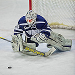 14 February 2015: University of New Hampshire Wildcat Goaltender Vilma Vaattovaara, a Junior from Veikkola, Finland, in third period action against the University of Vermont Catamounts at Gutterson Fieldhouse in Burlington, Vermont. The Ladies played to a 3-3 tie in their final meeting of the NCAA Hockey East season. Mandatory Credit: Ed Wolfstein Photo *** RAW (NEF) Image File Available ***
