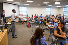 August 20, 2016; Moreau First Year Experience class, 2016. (Photo by Matt Cashore/University of Notre Dame)