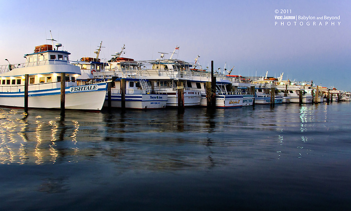 Line up of fishing boats at captree state park long for Fishing boats long island