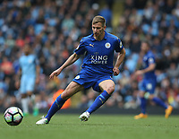 Leicester City's Marc Albrighton<br /> <br /> Photographer Stephen White/CameraSport<br /> <br /> The Premier League - Manchester City v Leicester City - Saturday 13th May 2017 - Etihad Stadium - Manchester<br /> <br /> World Copyright &copy; 2017 CameraSport. All rights reserved. 43 Linden Ave. Countesthorpe. Leicester. England. LE8 5PG - Tel: +44 (0) 116 277 4147 - admin@camerasport.com - www.camerasport.com