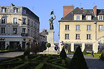Compiegne centre before the start of the 115th edition of the Paris-Roubaix 2017 race running 257km Compiegne to Roubaix, France. 9th April 2017.<br /> Picture: Eoin Clarke | Cyclefile<br /> <br /> <br /> All photos usage must carry mandatory copyright credit (&copy; Cyclefile | Eoin Clarke)