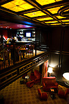 The Scandal lounge overlooks the lobby of the Citizen Hotel in Sacramento, California.