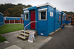 Ramsbottom United 1 Barwell 3, 03/10/2015. Riverside Stadium, Northern Premier League. An exterior view of the refreshment hut at the Harry Williams Riverside Stadium, home to Ramsbottom United before they played Barwell in a Northern Premier League premier division match. This was the club's 13th league game of the season and they were still to record their first victory following a 3-1 defeat, watched by a crowd of 176. Rams bottom United were formed by Harry Williams, the current chairman, in 1966 and progressed from local amateur football  in Bury to the semi-professional leagues. Photo by Colin McPherson.