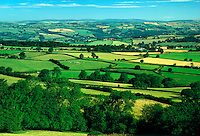 .The Wye Valley near Hay on Wye. Crops and pasture cover the flor of the rich and fertile Wye Valley, watered by one of England's largest rivers...