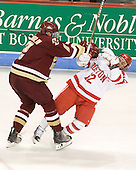 Brian Dumoulin (BC - 2), Chris Connolly (BU - 12) - The visiting Boston College Eagles defeated the Boston University Terriers 3-2 to sweep their Hockey East series on Friday, January 21, 2011, at Agganis Arena in Boston, Massachusetts.