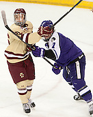 Austin Cangelosi (BC - 26), Nathaniel Domagala (HC - 7) - The visiting College of the Holy Cross Crusaders defeated the Boston College Eagles 5-4 on Friday, November 29, 2013, at Kelley Rink in Conte Forum in Chestnut Hill, Massachusetts.