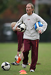 25 October 2009: Virginia Tech head coach Kelly Cagle. The Duke University Blue Devils defeated the Virginia Tech Hokies 4-1 at Koskinen Stadium in Durham, North Carolina in an NCAA Division I Women's college soccer game.