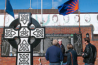 Belfast, Northern Ireland, United Kingdom, May 2011. The Clonards Martyrs Memorial garden on Bombay street that was destroyed in a loyalist attack.  For decades travellers stayed away from the sectarian violence, but since the end of'The Troubles' more and more people start discoving the beauty of Belfast and the Antrim Coast Causeway. Photo by Frits Meyst/Adventure4ever.com