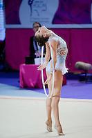NEVIANA VLADINOVA of Bulgaria performs with hoop at 2016 European Championships at Holon, Israel on June 18, 2016.