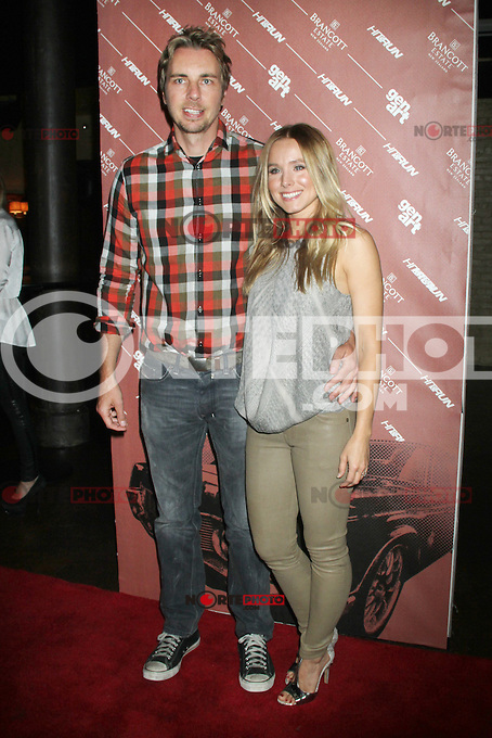 NEW YORK CITY,NY - July 25, 2012: Dax Shepard and Kristen Bell  at the GenArt Screening Series featuring the film, 'Hit &amp; Run' at Tribeca Cinemas in New York City. &copy; RW/MediaPunch Inc. /NortePhoto.com<br />