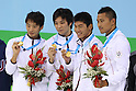 Japan team group (JPN), AUGUST 19, 2011 - Swimming : The 26th Summer Universiade 2011 Shenzhen Men's 4100m Medley Relay Final at Natatorium of Universiade Center, Shenzhen, China. (Photo by YUTAKA/AFLO SPORT) [1040]