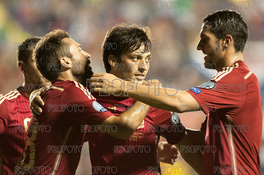 Spain 5 - 1 Macedonia debut in the qualifiers for Euro 2016 (8-9-2014)