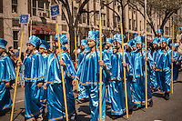 Iranian-Americans and supporters at the 11th annual Persian Parade on Madison Ave. in New York on Sunday, April 13, 2014. The parade celebrates Nowruz, New Year in the Farsi language. The holiday symbolizes the purification of the soul and dates back to the pre-Islamic religion of Zoroastrianism. (© Richard B. Levine)