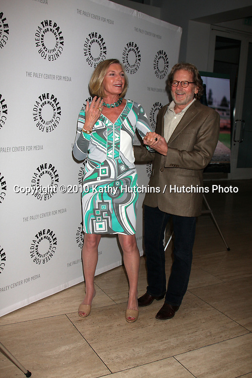 """LOS ANGELES - OCT 12:  Susan Sullivan, Robert Foxworth arrives  at the """"Falcon Crest:  A Look Back"""" Event at Paley Center for Media  on October 12, 2010 in Los Angeles, CA"""