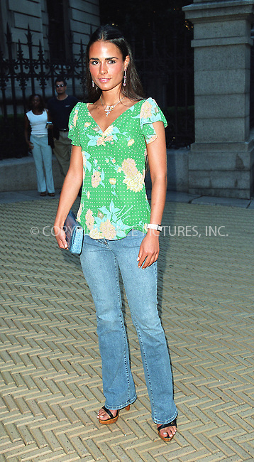 """Jordana Brewster attending the party """"Cocktails in the Garden"""" at Cooper-Hewitt National Design Museum on Upper East Side in New York. July 24, 2002. Please byline: Alecsey Boldeskul/NY Photo Press.   ..*PAY-PER-USE*      ....NY Photo Press:  ..phone (646) 267-6913;   ..e-mail: info@nyphotopress.com"""